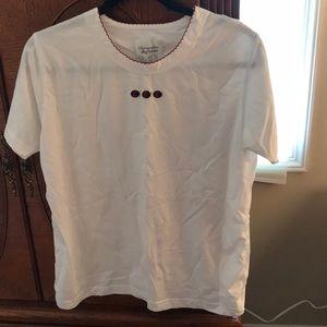 Christopher & Banks White Ladybug T-shirt